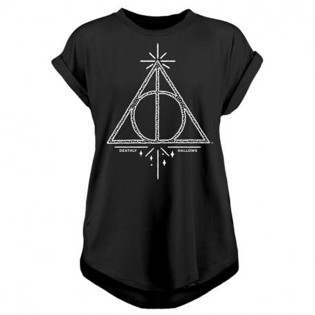 T-Shirt Harry Potter Reliques de la Mort Manches Retroussées