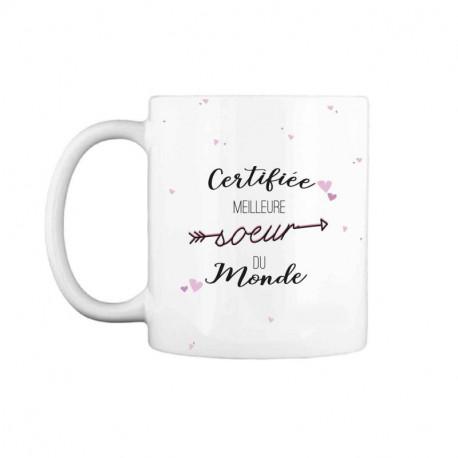 Mug Certifiée Meilleure Sœur du Monde