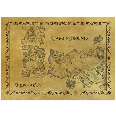 Carte Postale Game of Thrones - Westeros & Essos