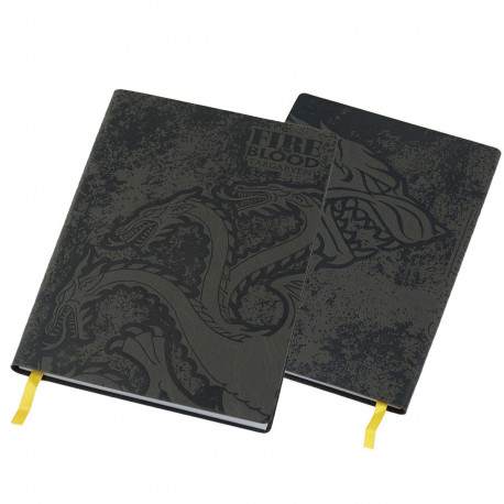 Carnet de Notes Game of Thrones Stark & Targaryen Couverture Souple