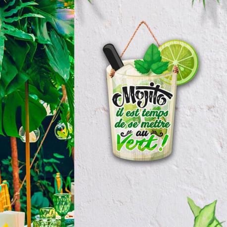 Plaque en Bois Mojito - Il est temps de se mettre au Vert