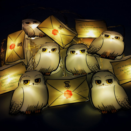 Guirlande Harry Potter - Hedwige et Lettre Poudlard