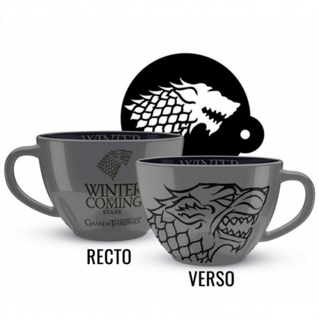 Set Maxi Tasse et Sous-Verre Game of Thrones Stark