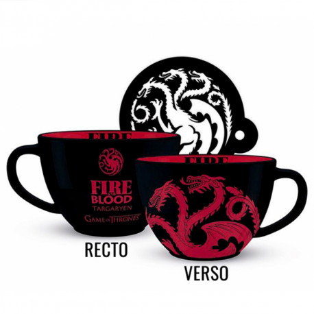 Set Maxi Tasse et Sous-Verre Game of Thrones Targaryen