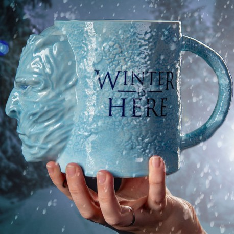 Maxi Mug 3D Game of Thrones Marcheur Blanc 1L