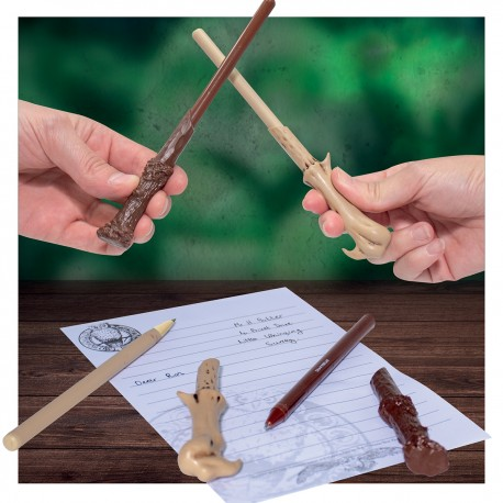Set Stylo et Crayon Baguettes Magiques Harry Potter et Voldemort