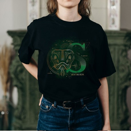 T-Shirt Phosphorescent Harry Potter Serpentard