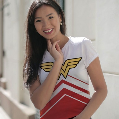T-shirt Wonder Woman Femme Blanc