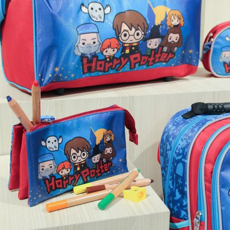 Trousse Triple Harry Potter Chibi