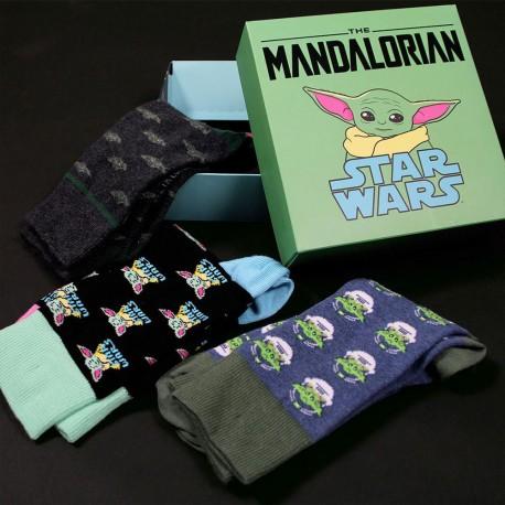 Coffret 3 Chaussettes Bébé Yoda The Mandalorian