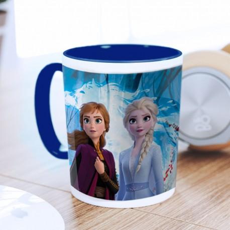 Mug Reine des Neiges 2 Bleu - Elsa, Anna & Nokk