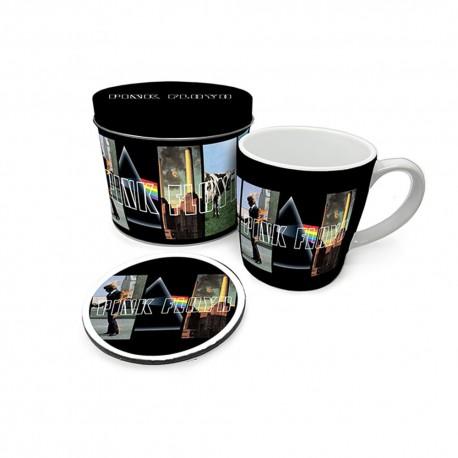 Boîte Cadeau Pink Floyd avec Mug et Sous-Verre