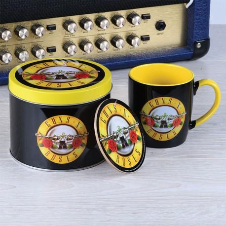 Boîte Cadeau Guns N' Roses avec Mug et Sous-Verre