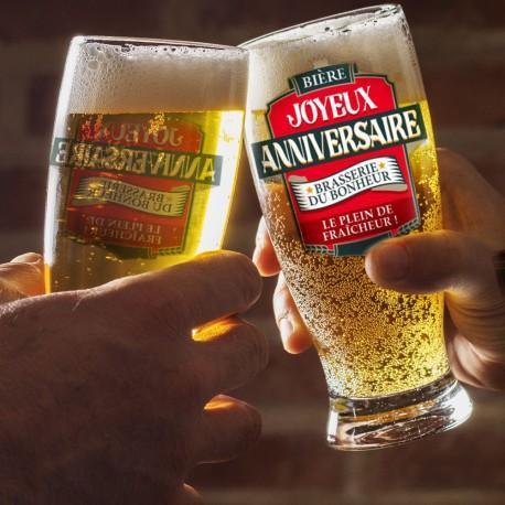 Verre à Bière Anniversaire