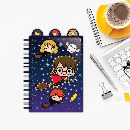 Carnet de Notes Lumineux Harry Potter Personnages Chibi