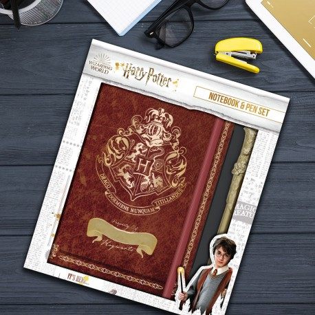 Set Harry Potter Poudlard - Stylo et Carnet de Notes à Personnaliser