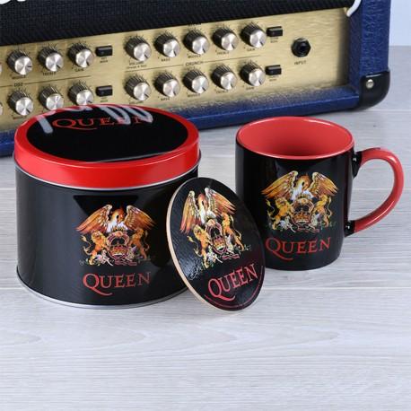 Boîte Cadeau Queen avec Mug et Sous-Verre