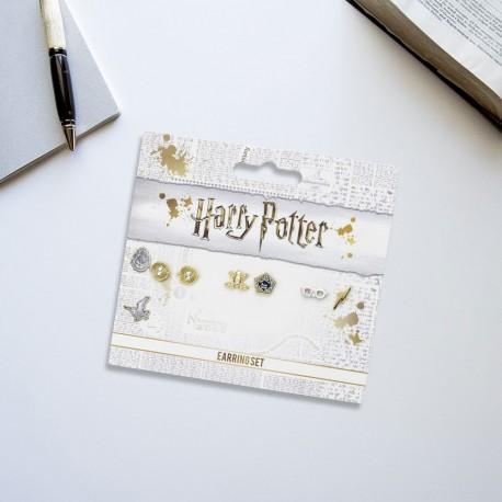 Boucles d'Oreilles Harry Potter - Lot de 3 - Retourneur de Temps et Symboles