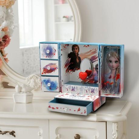 Boîte à Bijoux Musicale Compartimentée La Reine des Neiges 2
