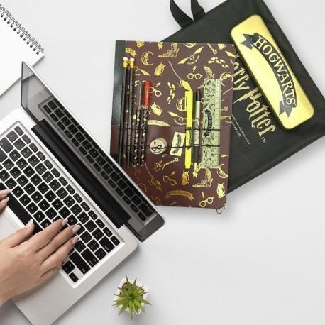 Set de Papeterie Harry Potter Poudlard avec Boîte Métallique