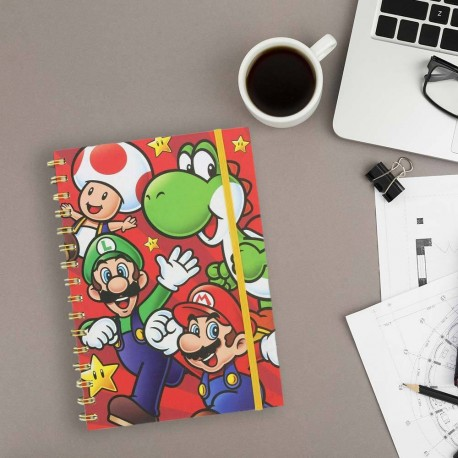 Carnet de Notes Super Mario Nintendo A5