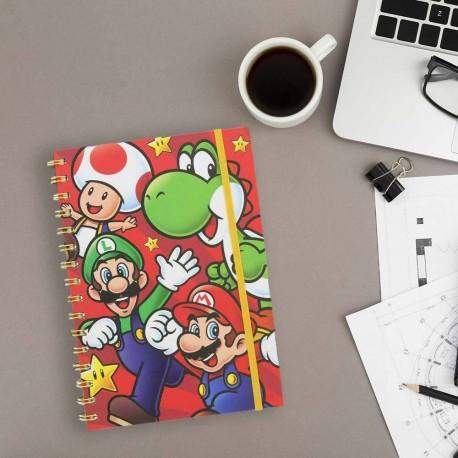 Carnet de Notes Super Mario Nintendo A5