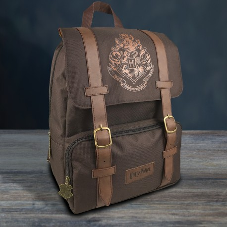 Sac à Dos Deluxe Harry Potter Blason Poudlard Marron