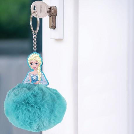 Présentoir Porte-Clés La Reine des Neiges Pompon Elsa