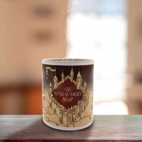 Mug Thermoréactif Harry Potter formule magique Carte du Maraudeur