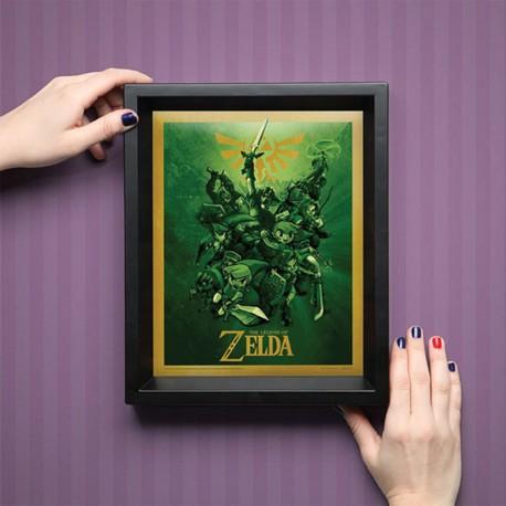 Cadre Link The Legend of Zelda Effet Animé 3D