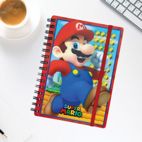 Carnet de Notes Super Mario Nintendo avec Couverture Animée
