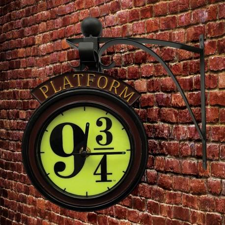 Horloge Applique Harry Potter Quai 9 3/4 Phosphorescente avec Support Métallique