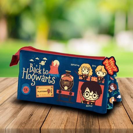 Trousse Triple Harry Potter Chibi Back to Hogwarts