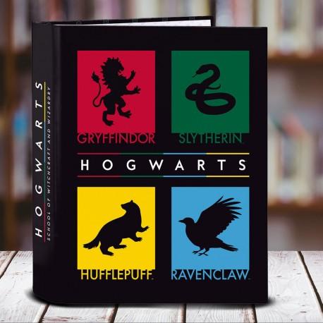 Classeur A4 Harry Potter Maisons Poudlard à 4 Anneaux