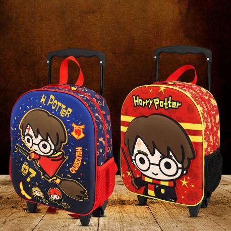 Sac à Dos Harry Potter Chibi 3D à Roulettes