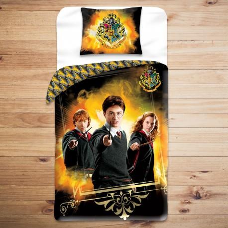 Parure de Lit Harry Potter, Ron et Hermione