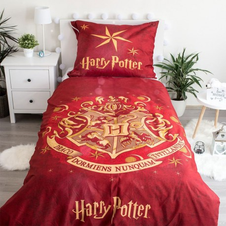 Parure de Lit Harry Potter Poudlard Rouge