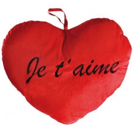 Coussin Coeur Rouge Géant Je T'Aime