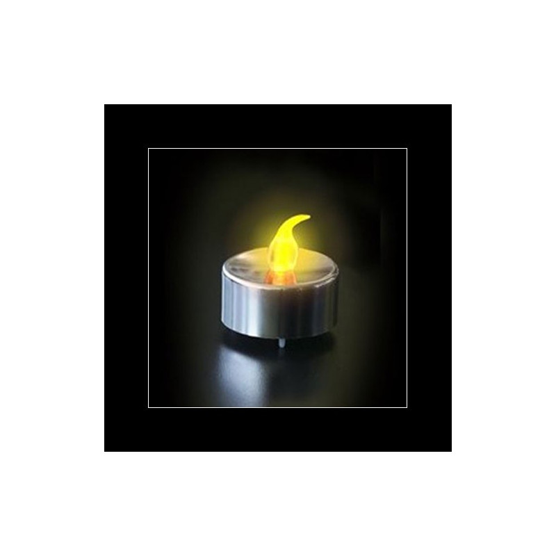 bougie led argent e flamme jaune kas design distributeur de cadeaux originaux et gadgets. Black Bedroom Furniture Sets. Home Design Ideas