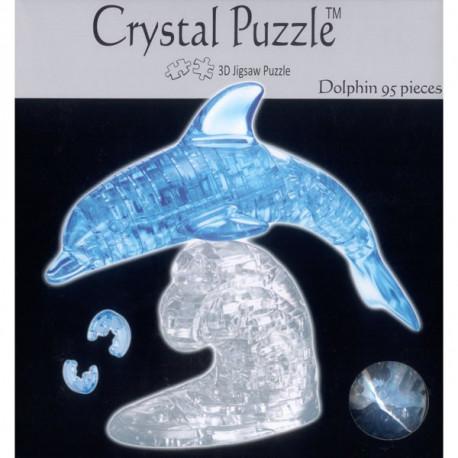 Puzzle 3D Dauphin Cristal Bleu