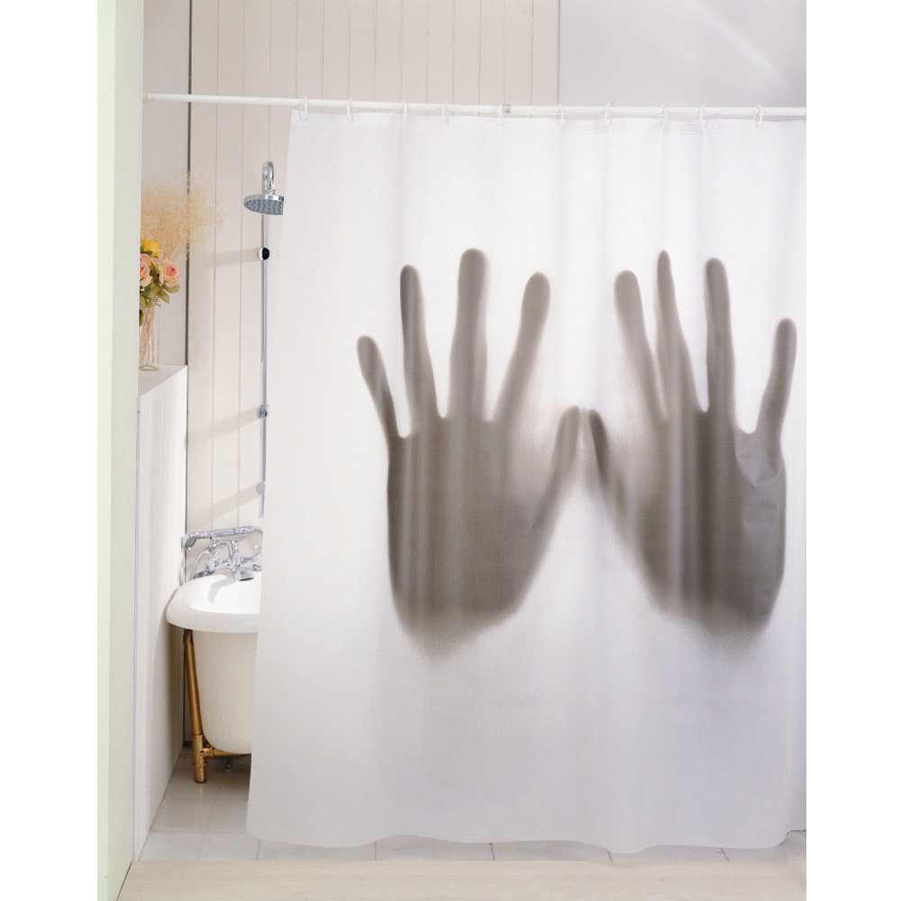 Rideau de douche scary kas design distributeur de cadeaux originaux et gad - Rideau de douche insolite ...