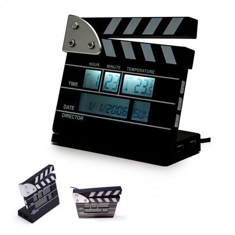 Horloge Clap de Cinéma Hub Usb