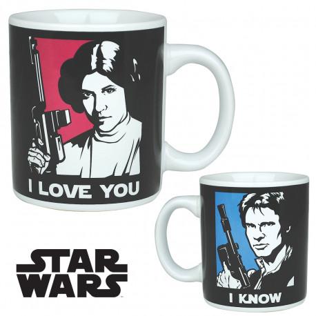 Mug Star Wars Han Solo et Leia
