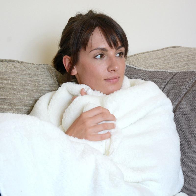 plaid snug rug deluxe extra doux kas design distributeur de produits originaux. Black Bedroom Furniture Sets. Home Design Ideas