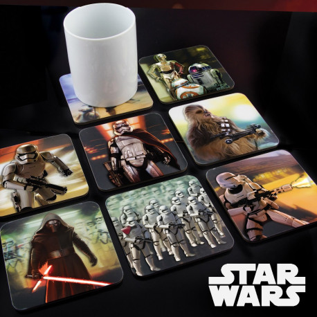 Lot de 8 Sous-Verres Animés Star Wars