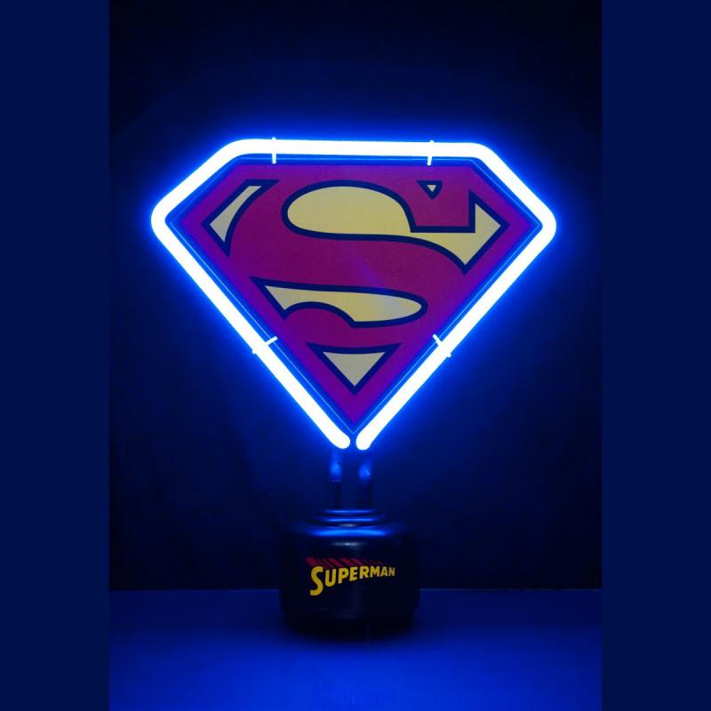 lampe n on superman logo kas design distributeur de produits kas design. Black Bedroom Furniture Sets. Home Design Ideas