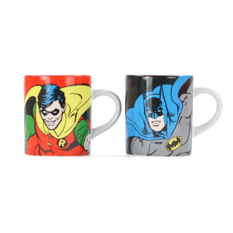 Tasses à Expresso Batman et Robin   Kas Design 46fddcaf654