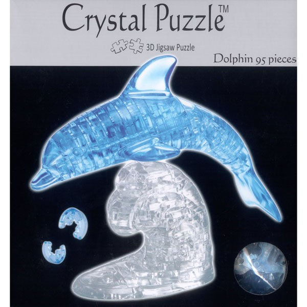 3D Puzzel Crystal<br>Blue Dolphin