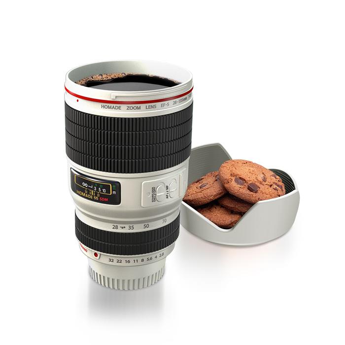 Camera Lens Mug White