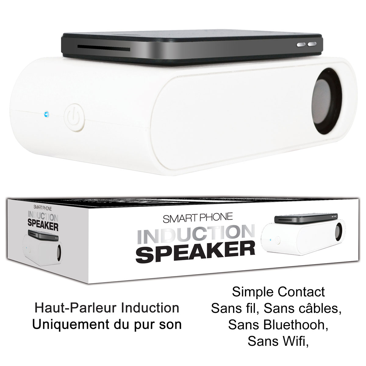 Speaker Induction<br>Smartphone Déclinais